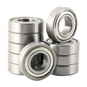 New Listing6205zzdouble Shielded Metal Seal25x52x15mm Deep Groove Ball Bearings 10 Pack