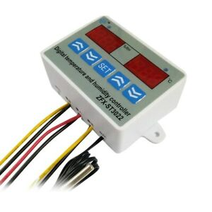 Temperature Humidity Controller Digital Dual Display Thermostat Humidistat For