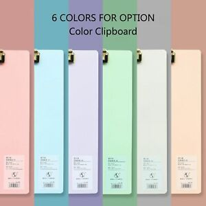 A4 Plastic Clipboard Hardboard Writing Pad Profile Clip With Hanging Hole For