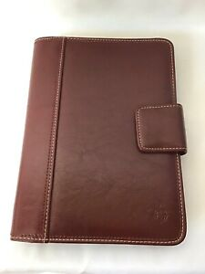 Franklin Covey Day Planner Binder Organizer 10 Red 7 Ring Snap Closure Dividers