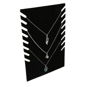 Chain Necklace Pendant Display Stand Rack Holder For Showcase Home Black