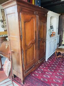 Antique French Provincial Armoire Wardrobe Cabinet Early 1800s