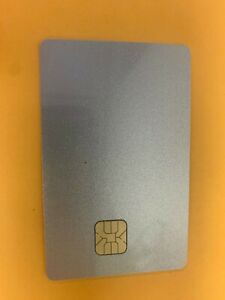 10 Blank Smart Card With Sle4428 Chip Magnetic Strip Hico 3 Track Silver