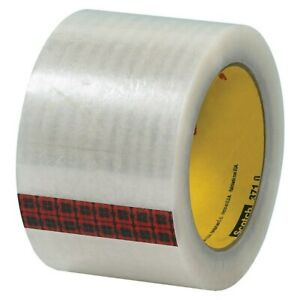3m 371 Carton Sealing Tape 3 X 110 Yd Clear Case Of 24 Industrial Tape
