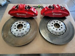 2020 2021 Mustang Gt500 Shelby Front Brembo Calipers Brakes Rotors 16 5 Inches