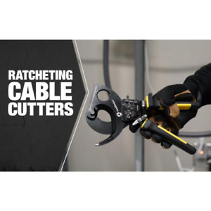 Southwire Ratcheting Cable Cutters Comfort Grip Handle Fixed Joint Flush Cut