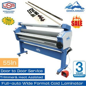Qomolangma 55in Heat Assisted Full auto Wide Format Cold Laminator With Trimmers