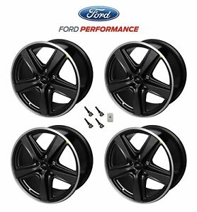 2015 2021 Ford Mustang Mach 1 Oem Staggered Dark Charcoal Wheels 19 X 10 9 5