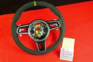 911 Gt3 Rs Gear Paddle Shifter Alcantara Steering Wheel Only With Yellow