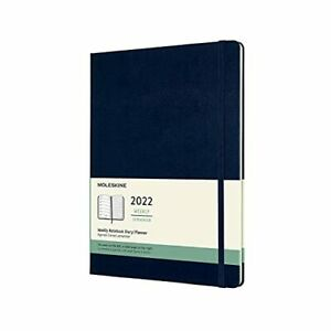 Moleskine Classic 12 Month 2022 Weekly Planner Hard Cover Xl 7 5 X 9 75 Sapph