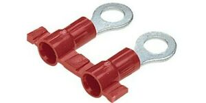 Panduit Pv18 10rb 3k Pvc Insulated Ring Terminal 18 22 Awg 10 Stud 100 Count