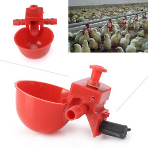 5pcs Poultry Chicken Water Drinker Farms Use Cup Feeding