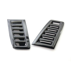 Car Hood Bonnet Vent Louver Scoop Cover Air Flow Intake Gloss Black Universal Fits 2005 Ford Mustang