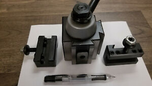 Grizzly G5690 Bxa Quick Change Tool Post With Two Bonus Toolholders