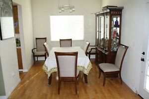 Dinning Room Set With China Cabinet 8 Chairs