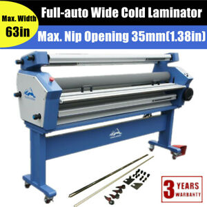 Qomolangma 63 Full auto Wide Roller Cold Laminator Heat Assisted With Trimmers