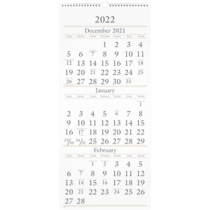 At a glance 15 month Wall Calendar 12 X 27 December 2021 To February 2023