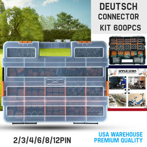 Usa 600 Pcs Genuine Deutsch Dt Connector Kit 14 16awg Stamped Contacts