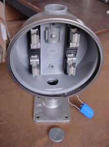 240v Electric Watthour Meter Socket Base Can Mount Box Rv House Apartment New