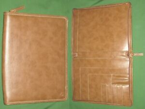 Monarch Brown Faux Leather Note Pad Franklin Covey Planner 8 5x11 Binder 6084