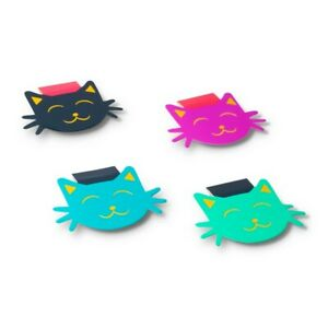 Dabney Lee Set of 4 Magnetic Cat Bookmarks New amp; Free Shipping $4.99