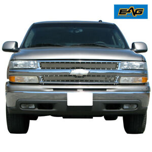 Fit 99 02 Chevy Silverado 1500 Front Hood Grille Rivet Steel Wire Mesh Insert