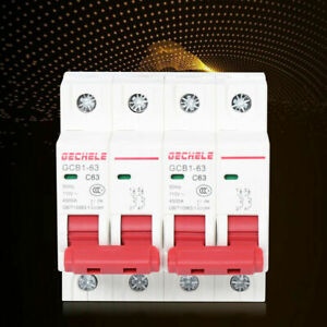 2p 63a Dual Power Manual Transfer Switch For Generator Changeover Toggle Switch