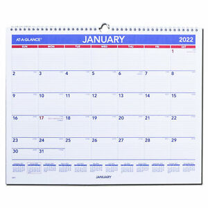 2022 At a glance Pm8 28 Monthly Wall Calendar 14 7 8 X 11 7 8