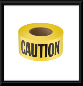 3 In X 1000 Ft Caution cuidado Standard Barricade Tape Yellow Warning Safety