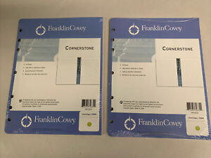 2 Pack Franklin Covey Monarch Original Lined Pages 50 Page Each