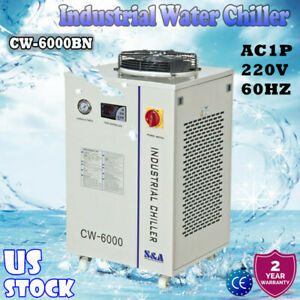 S a Cw 6000bn Industrial Water Chiller For 100w Solid state Laser 220v 60hz