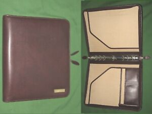 Folio 1 0 Brown Leather Day Timer Planner 8 5x11 Monarch Franklin Covey 320