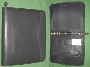 Folio 1 0 Black Leather Day Timer Planner 8 5x11 Monarch Franklin Covey 308