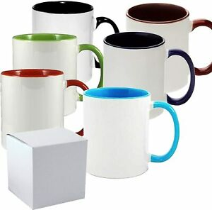 11 Oz Sublimation Coated Color Mugs With Cardboard Box Case Of 6 Pieces