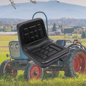 Tractor Seat Universal Lawn Mower Seat Back Pu Leather With Slide Waterproof