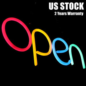 Business Store Open Sign Led Open Neon Light Bar Cafe Shop Outside Wall Decor