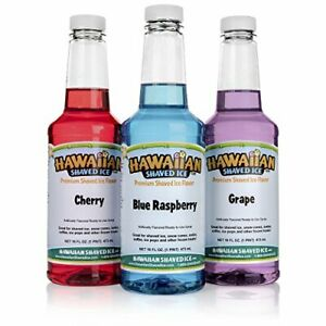 Hawaiian Shaved Ice F140 Snow Cone Syrup 3 Pint Package