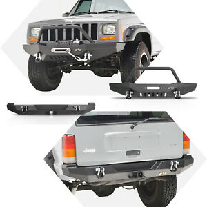Eag Front Rear Bumper With Hitch Receiver Fit For 1984 2001 Cherokee Xj