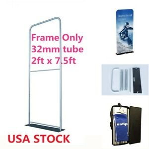 Us 2ft Exhibition Booth Tension Fabric Display frame Only 32mm Aluminum Tube