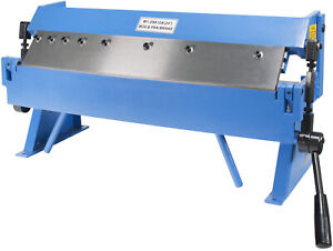 Erie Tools 24 Sheet Metal Pan And Box Brake With Adjustable Removeable Fingers