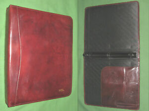 8 5x11 1 0 Brown Leather Scully Planner Binder Franklin Covey Monarch 9476