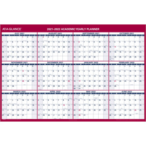 At a glance Reversible Wall Calendar 32 X 48 Blue white Pm326s2822 Wall