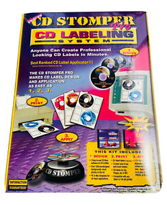 New Sealed Cd Stomper Pro Cd r Labeling System Software Pc Mac Computer Kit