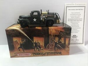 New Listingmatchbox 1941 Chevrolet Army Fire Truck Diecast 143 Yym35189 Withcoa