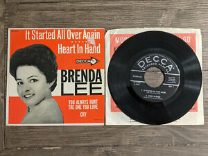 Brenda Lee 45 EP It Started All Over Again Decca ED2730 Heart In Hand Cry P S 7quot; $60.00