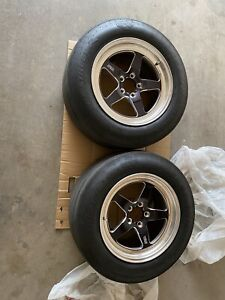Weld Racing Rt S S71 Forged Aluminum Polished Rear Wheels 17x10 5 Used