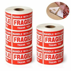 1 4 Rolls Fragile Handle With Care Stickers 3 X 5 Shipping Labels 500 Count