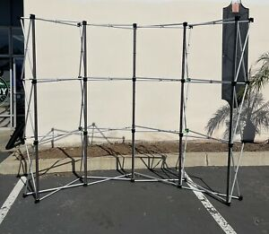 10 X 8 Pop up Curved Trade Show Display Booth Frame Stand Pop Up Free Case