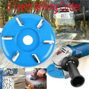Power Wood Carving Cutter Disc Milling Attachment For Angle Grinder 6 Teeth