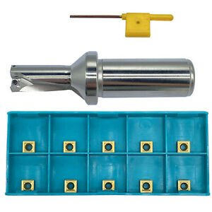 Spmg060204 10pcs With 18 5 2d c25 Shank Dia 25mm Indexable Fast U Drill Tool